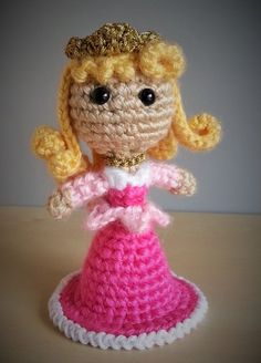 Aurora -  Sleeping Beauty.   Disney Amigurumi Crochet