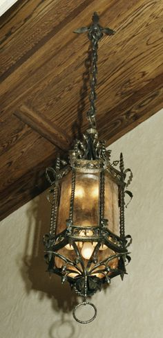 Samuel Yellin -Wrought Iron Acorn Lantern.