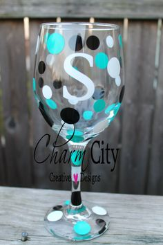 Personalized Wine Glass for birthdays bachlorette by ahindle78, $10.00