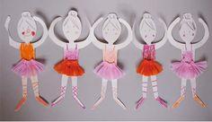 Guirnalda de bailarinas de papel