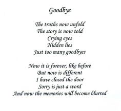 farewell goodbye poems