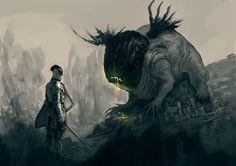 Sleep Paralysis, Elder Scrolls, The Witcher, Underworld, Goblin, Dark Fantasy, Beast, Horror, Lion Sculpture