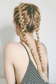 Girly and innocent french plaits would be effective for use on tabitha. It also works alongside branding