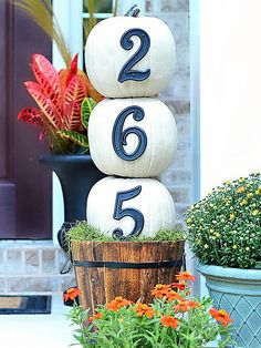 Use these pretty fall decorating ideas to add pizzazz to your porch this autumn. Whether it's a gourd, wreath, or full porch display, you're sure to find beautiful fall inspiration for your front entry.