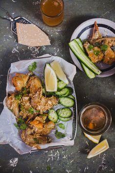 Garlic Parmesan Baked Chicken Wings | Playful Cooking #chicken #wings #baked #garlic