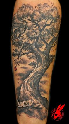 Tree Memorial Tattoo by Jackie Rabbit | by Jackie rabbit Tattoos