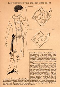 Home Sewing Tips from the 1920s: Dress Up Your Frocks with Lace Medallions