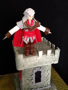 Assassin's Creed Assassins Creed, Video Game Cakes, Cake Baking, Frostings, Cake Ideas, Fondant, Nerdy, Dj, Birthday Cake