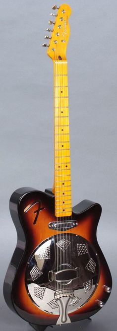 2013 Fender Reso-Tele electric resonator Guitar --- https://www.pinterest.com/lardyfatboy/