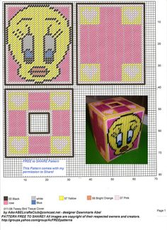 Tweety Bird Plastic Canvas Coasters, Plastic Canvas Tissue Boxes, Plastic Canvas Crafts, Plastic Canvas Patterns, Box Patterns, Canvas Designs, Tissue Box Covers, Craft Fairs, Needlepoint