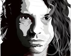 """Check out new work on my @Behance portfolio: """"Michael Hutchence from INXS Illustration Portrait"""" http://be.net/gallery/63328415/Michael-Hutchence-from-INXS-Illustration-Portrait"""