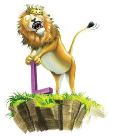 """Roar!  I am strong and I am the King of the Jungle.  I have a thick mane of hair.  My baby lions are called cubs.""  -character from My Very Own Name storybook."