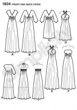 Simplicity Schnittmuster Kleid Abendkleid 1804