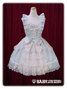 Baby, the stars shine bright Pastoral in the Grass Green〜Flower girl jumper skirt