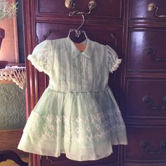 Vintage Girls Dress  1950s Easter Dress Party by MyVintagePoint