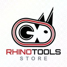 Abstract logo with the shape of a rhinoceros head with the red and black colors. Rhino Logo, Make Your Logo, Black Colors, Abstract Logo, Rhinoceros, Social Media Design, Templates, Shape, Logos