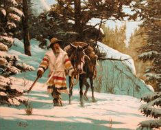 fur traders and mountain men | Fur Trade Era Paintings by John Phelps 53