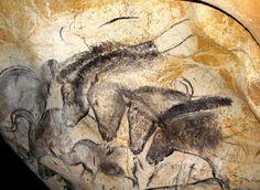 Grotte ornée du Pont d'Arc dite Chauvet © Jean Clottes - Panneau des chevaux