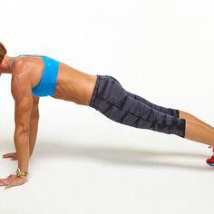 Day 3 Plank Challenge: Extended Arm Plank (High Plank) - Fitnessmagazine.com