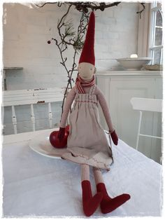 Christmas Sewing, Christmas Elf, White Christmas, Handmade Christmas, Christmas Stockings, Christmas Crafts, Christmas Decorations, Holiday Decor, Danish Christmas