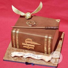 Harry Potter cake.  Love the Snitch!