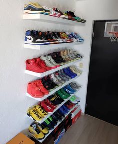 Sneaker Rack, Sneaker Storage, Shoe Room, Shoe Wall, Closet Shoe Storage, Shoe Closet, Shoe Racks, Hypebeast Room, Ikea Lack Shelves