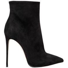 Le Silla Women 110mm Suede Ankle Boots (3.275 RON) ❤ liked on Polyvore featuring shoes, boots, ankle booties, heels, schuhe, black, suede booties, high heel booties, black ankle booties and black suede ankle booties