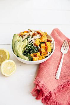 avocado & sweet potato power bowl recipe