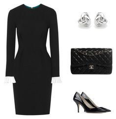 """""""Funeral Outfit"""" by arleth-dantas on Polyvore featuring Roksanda, MICHAEL Michael Kors, Chanel and Georgini"""