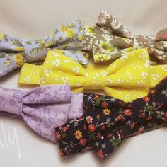 New floral bowties listed in my shop. For ages 1-10, and you can find the matching hairbow too!