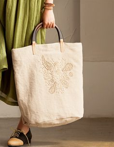 Handmade Embroidered Linen Handbag Travel Bag Summer Women Accessories *********************** We use selected Embroidered Linen and quality hardware to make the bag as good as it is. This bag is perf
