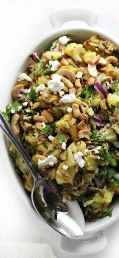 Mediterranean Cauliflower Salad with Orange Marmalade (healthy vegetarian dinner recipe)