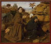 Saint Francis of Assisi Receiving the Stigmata - 1430-32  - Attributed to Jan van Eyck