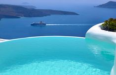The Infinity Suite - Indoor and Outdoor heated plunge pools with jacuzzi - Dana Villas Santorini Hotel, Firostefani, Santorini, Greece Dana Villas Santorini, Santorini Hotels, Santorini Greece, Santorini Sunset, Crete Greece, Athens Greece, Places To Travel, Places To See, Houses