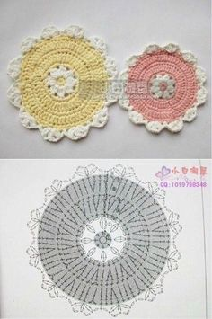 Crochet Snowflake Pattern, Crochet Mandala Pattern, Crochet Circles, Crochet Stitches Patterns, Crochet Diagram, Crochet Chart, Hand Embroidery Patterns, Crochet Puff Flower, Crochet Flowers