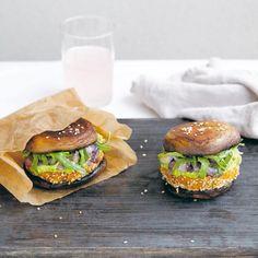 Sweet potato and mushroom vegetarian burgers for your summer BBQ. For more vegetarian recipe ideas, visit Redonline.co.uk