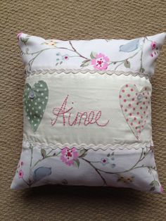 Personalised handmade cushion x