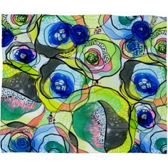 CayenaBlanca Molecular Tension Fleece Throw Blanket | DENY Designs Home Accessories