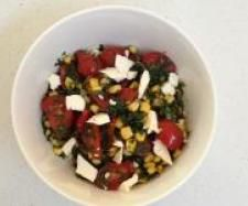 Recipe Tomato and Sweet Corn Salad by Astrid McCallum - Recipe of category Side dishes