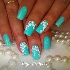 Image result for turquoise nails