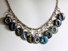 Vintage Metal Necklace by Objects and Subjects