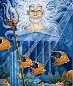 Pisces:  Neptune. The #planet #Neptune, named after the Roman God #Neptunus (the Greek God Poseidon), is the ruling planet of #Pisces.