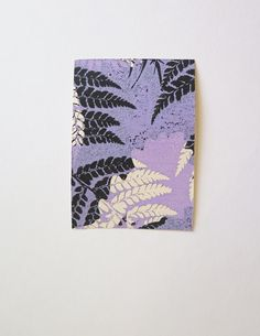 Stef Mitchell small original nature mini print ACEO Ferns inspired by William Morris the Arts and Crafts movement