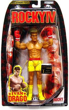 Jakks Pacific Best of Rocky Action Figure Ivan Drago Rocky IV Vs. Retro Toys, Vintage Toys, Rocky Balboa, Custom Action Figures, Sports Toys, Sideshow Collectibles, Gi Joe, New Toys, Beautiful Dolls