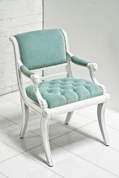 Edward Chair in Aqua Velvet by ModShop