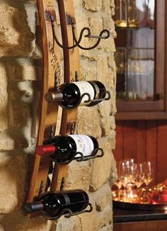 Our Reclaimed Wine Rack has been made into elegant decor.