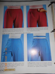 correzioni difetti pantaloni..una specie di riepilogo - Pagina 2 Sewing Alterations, Pants Pattern, Skirt Pants, Pattern Making, Workout Pants, Refashion, Dressmaking, Jumper, Sewing Patterns