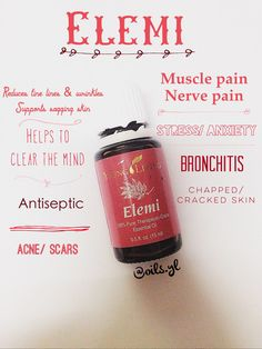 Elemi Essential Oil. Interesting. Haven't heard of this one. Many remedies that I'm very interested in here. Love young living. Kinda oil obsessed. Loving it. So are my kids. Natural healing. No more harsh chemicals. No need. You can heal naturally