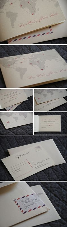 Elegant cream paper stock, fancy fonts and soft colours - sophisticated and romantic.