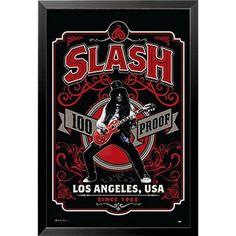 Buy Art For Less 'Guns N' Roses Slash Whiskey Label 100 Proof Los Angeles' Framed Graphic Art Guns N Roses, Whiskey Label, Rock Band Posters, Vintage Music Posters, Black Light Posters, Slash, Concert Posters, Rock Music, Rock N Roll
